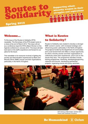 Spring 2012 - Voluntary Sector North West