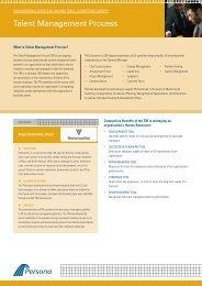 Talent Management Process - Persona Global