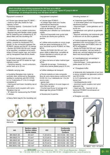 équipment de mise en court circuit pour ligne ht - Binamé