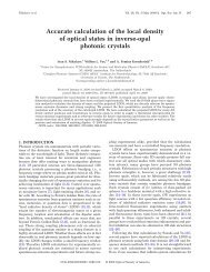Accurate calculation of the local density of optical ... - Optics Infobase