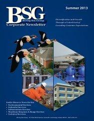 BSG Summer 2013 Newsletter - Bering Sea Group