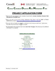 PROJECT APPLICATION FORM - CDEMA