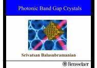 A photonic band gap (PBG)