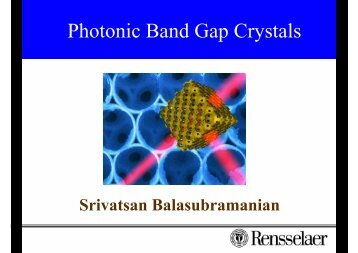 A photonic band gap (PBG)