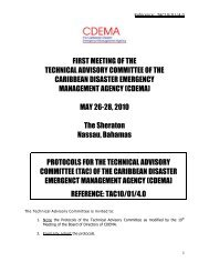 first meeting of the technical advisory committee of the caribbean ...