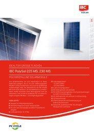 IBC PolySol 225 MS, 230 MS - Mare Solar