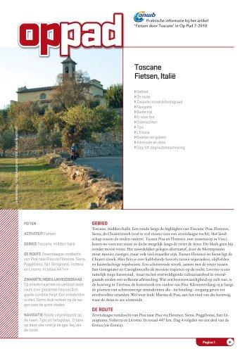 Toscane Fietsen, Italië - Op Pad
