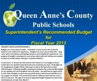 The Board of Education Queen Anne's County