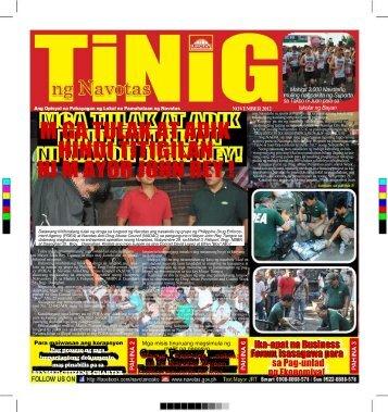 tinig november issue 2012 - Navotas City