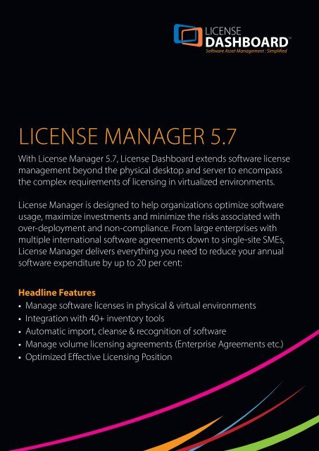LICENSE MANAGER 5 7 - Phoenix Software