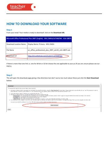 HOW TO DOWNLOAD YOUR SOFTWARE - Phoenix Software