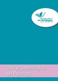 Código Deontológico del Psicólogo - Colegio Oficial de Psicólogos ...