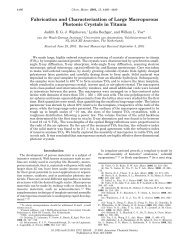 Fabrication and Characterization of Large Macroporous Photonic ...