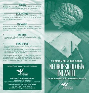 INFANTIL - Colegio Oficial de Psicólogos de Madrid