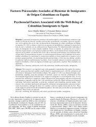 Factores Psicosociales Asociados al Bienestar de Inmigrantes de ...
