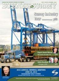 2010 annual general meeting june 24, 2010 - Surrey Board of Trade