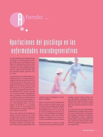 Aportaciones del psicólogo en las enfermedades neurodegenerativas