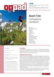 Kesch-Trek Zwitserland, wandelen - Op Pad