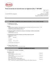 Fiche de données de sécurité selon (CE) N° 1907/2006 - Henkel ...