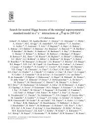 Search for neutral Higgs bosons of the minimal supersymmetric ...