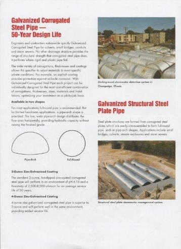 Galvanized Corrugated Steel Pipe - Jensen Bridge & Supply