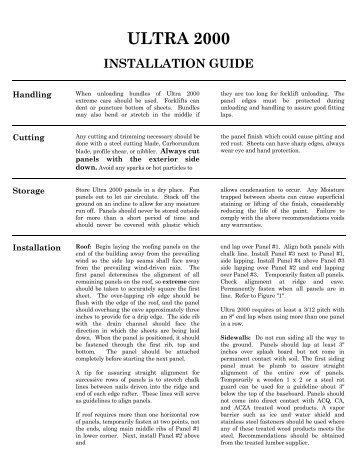 Ultra Installation G.. - Jensen Bridge & Supply
