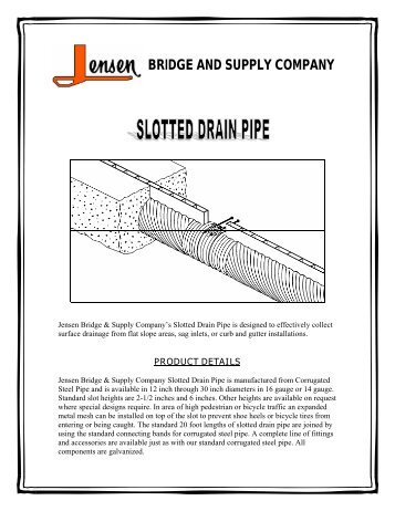 Slotted Drain - Jensen Bridge & Supply