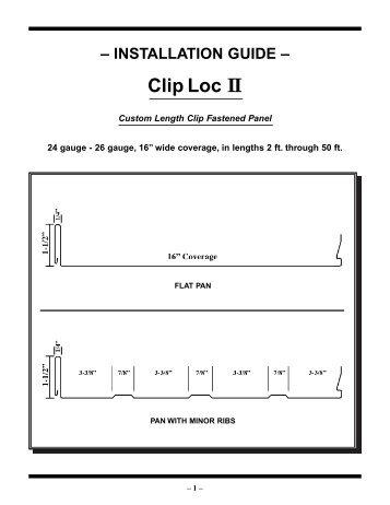 Clip Loc II - Jensen Bridge & Supply