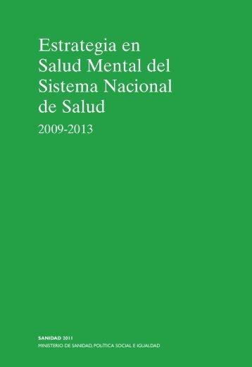 SaludMental corregido7:Maquetación 1.qxd - Ministerio de Sanidad ...