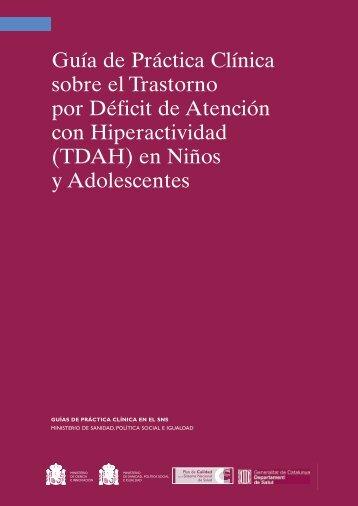 Guía de Práctica Clínica sobre el Trastorno por Déficit de ... - ANHIPA