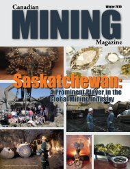 A Prominent Player in the global Mining industry - Canadian Mining ...