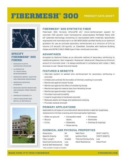 Fibermesh 300 Product Data Sheet