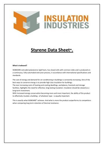 Styrofoam Brand Extruded Polystyrene Foam Insulation In