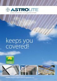 polycarbonate corrugated sheet www.bayermaterialscience.com.au