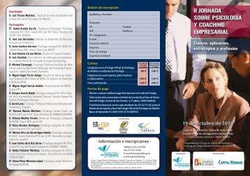 Programa - Colegio Oficial de Psicólogos de Madrid