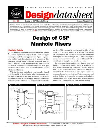 CSP Manhole Risers - Jensen Bridge & Supply