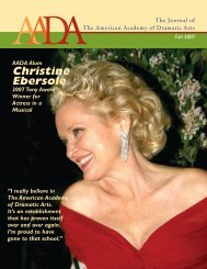 Christine Ebersole - American Academy of Dramatic Arts
