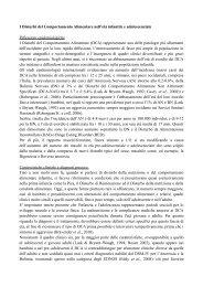 DCA Infanzia e Adolescenza - Le Buone Pratiche di cura nei ...