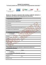 Scheda di rilevazione nazionale del - Le Buone Pratiche di cura nei ...