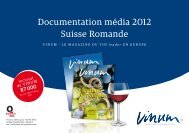 Documentation média 2012 Suisse Romande - Vinum
