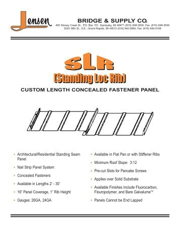 SLR Product Guide - Jensen Bridge & Supply