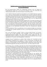Rückblick auf die Amtszeit 2010-11 des stud. Konvents