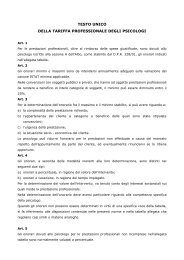 nomenclatore tariffario - Ordine degli Psicologi
