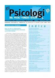 Il 1 numero del 2009 - Ordine degli Psicologi