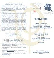 Brochure del Convegno - Ordine degli Psicologi