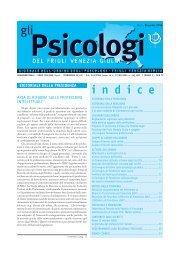 Numero 2 anno 2006 (formato pdf) - Ordine degli Psicologi