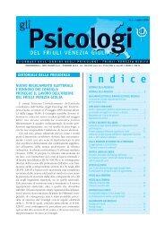 Notiziario numero 1 del 2004 in formato pdf - Ordine degli Psicologi