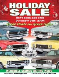 Don't delay, sale ends December 24th, 2009! - OPGI.com