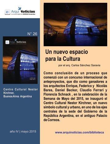 Un nuevo espacio para la Cultura por el arq. Carlos Sánchez Saravia