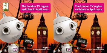 The London TV region switches in April 2012